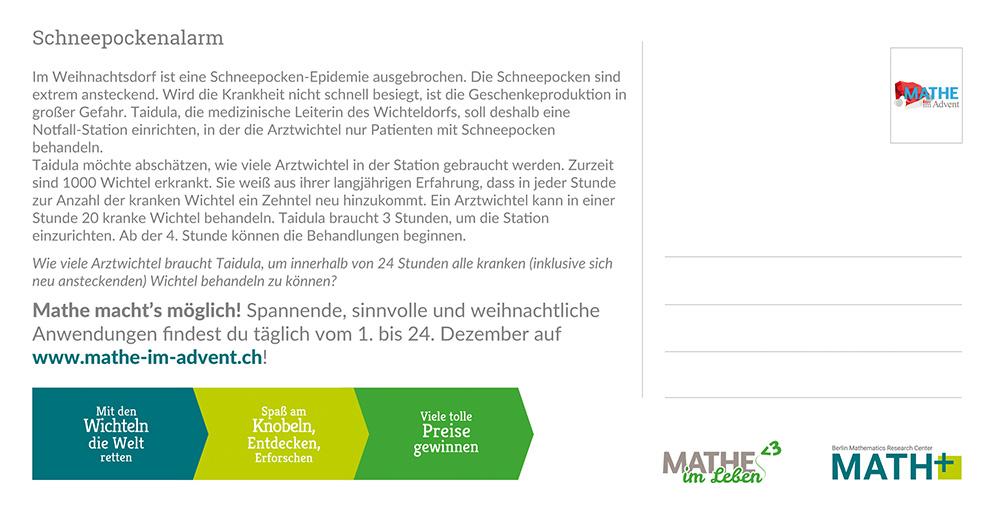 MiA Postkarte Rückseite - Schweiz