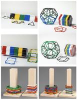 Klassensatz Klickies mit Dreiecken, Quadraten, Fünfecken und Sechsecken + Arbeitsheft
