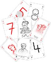 Klassensatz mit 30 mathematischen Romméblatt Kartenspielen